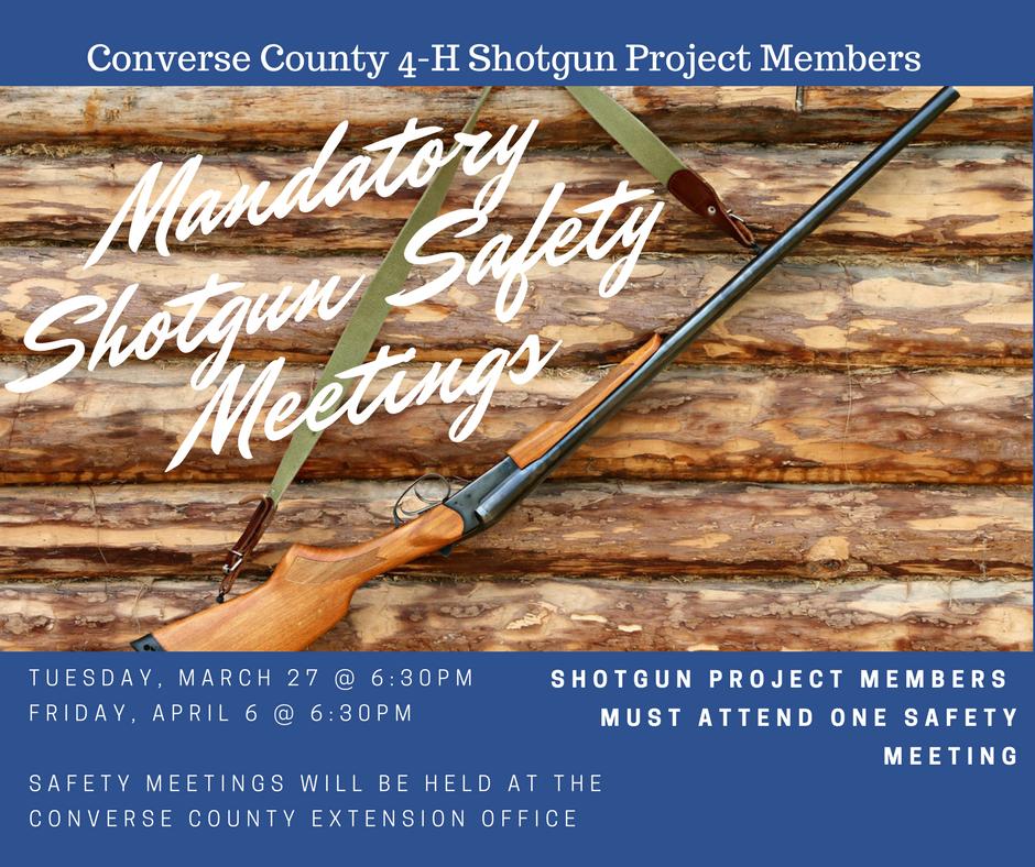 Mandatory Shotgun Safety Meetings Schedule