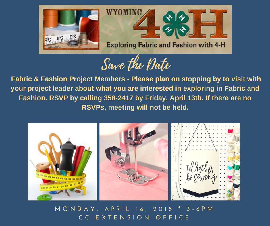 Save the Date - Fabric and Fashion Project Members