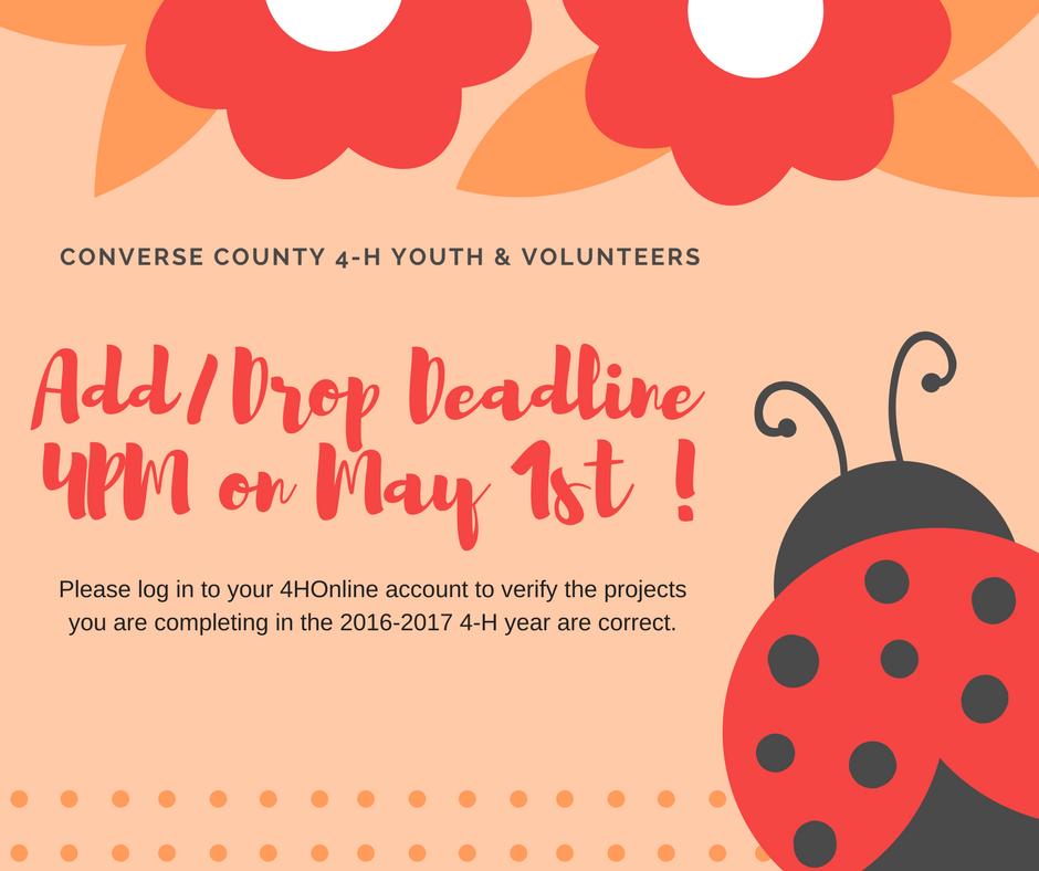 May 1st - Add/Drop Deadline Date!