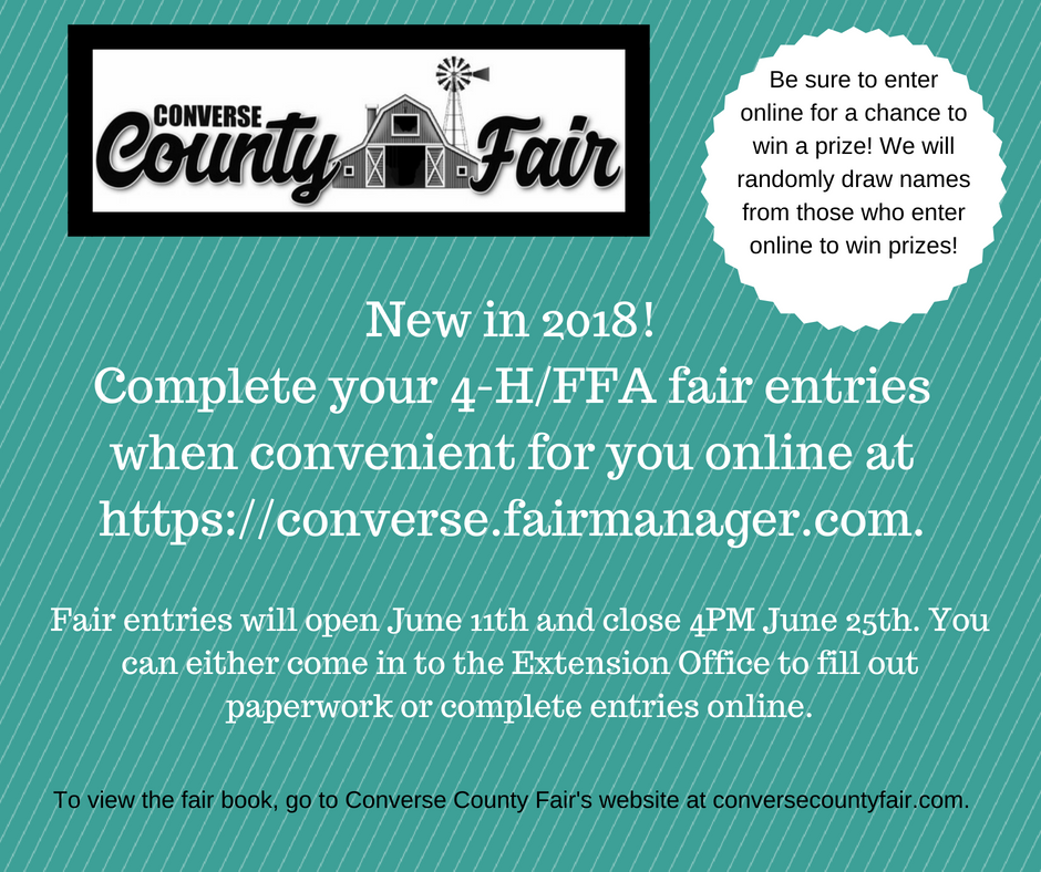 2018 Converse County Fair Entries