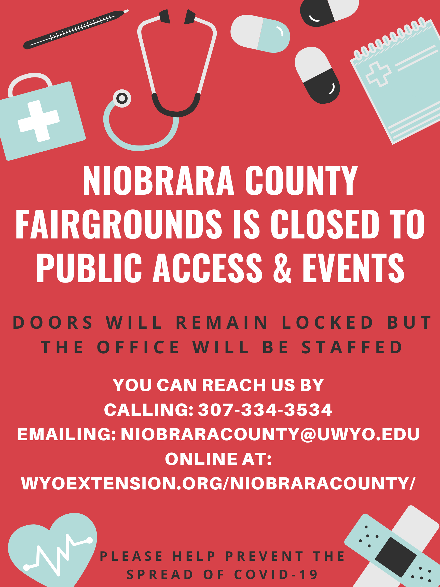 Fairgrounds closed to public access and events