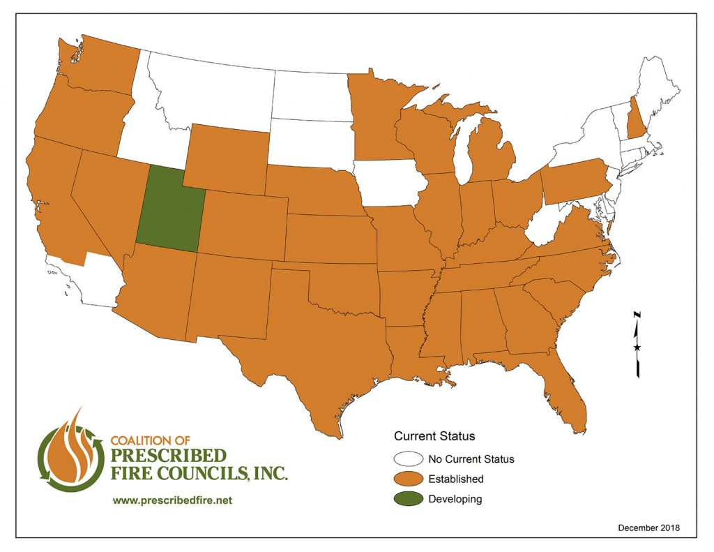 Coalition of Prescribed Fire Councils Map of the United States
